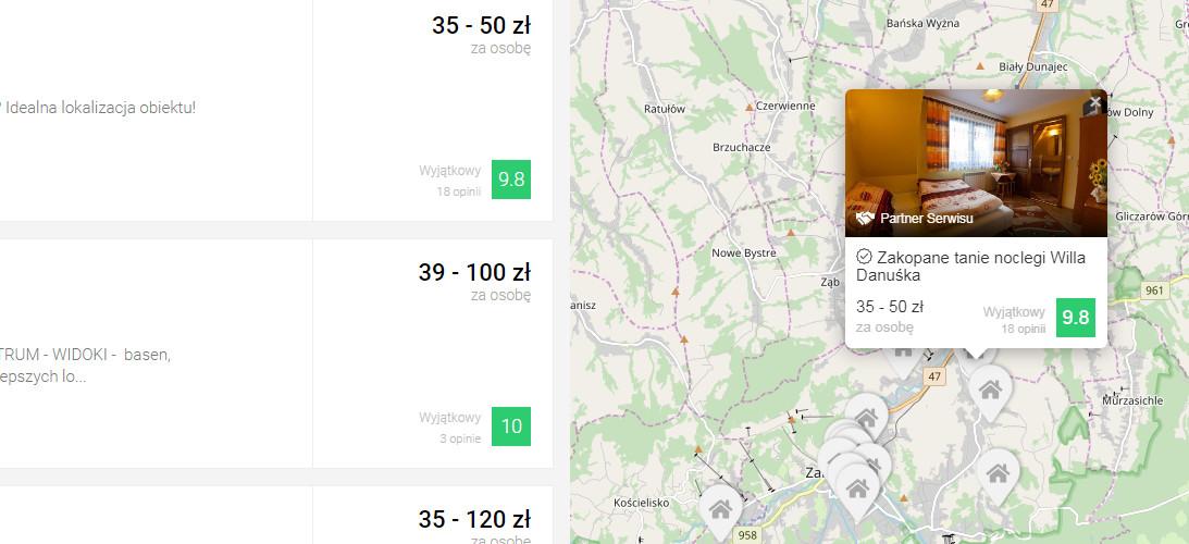 mapa - Co nowego w Noclegowo? Funkcje, które polubisz!