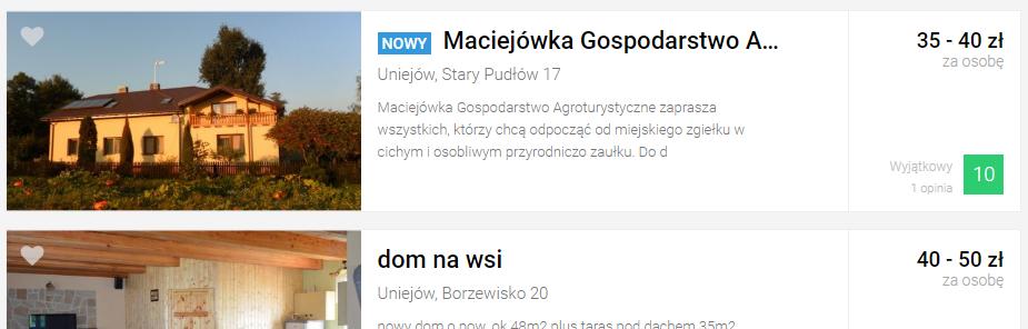 nowy 1 - Dodatkowe oznaczenia - jak wyróżnić się w Noclegowo?