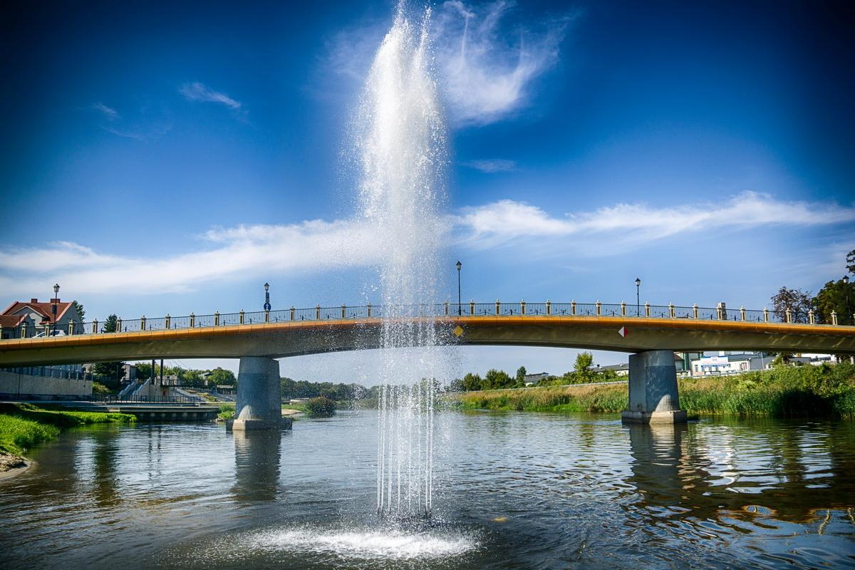 14 - Nowa atrakcja w Koninie, czyli podświetlana fontanna