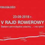 """V Rajd Rowerowy """"Śladami górnośląskiej szlachty i nie tylko"""" w miejscowości Nakło Śląskie"""
