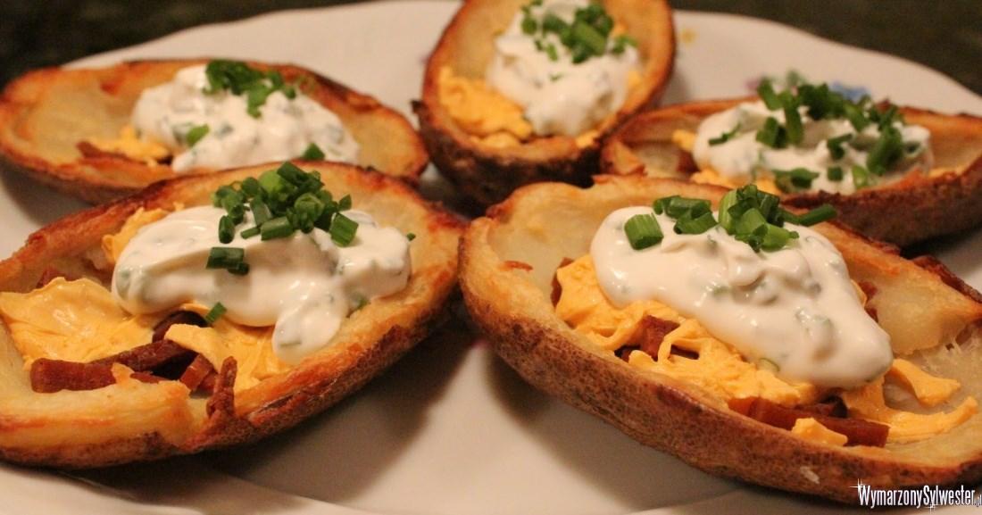 Nadziewane łupinki ziemniaków